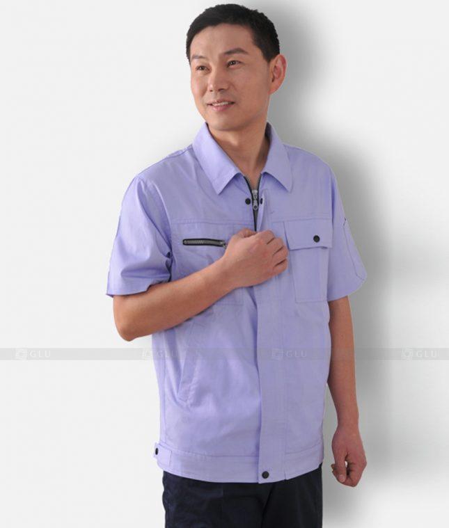 Dong phuc cong nhan GLU CN1307 mẫu áo công nhân