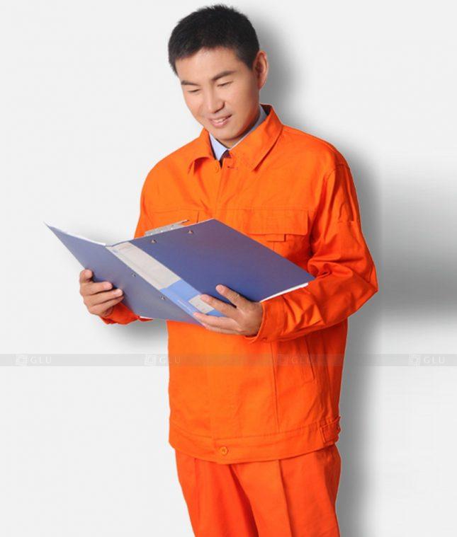 Dong phuc cong nhan GLU CN1308 mẫu áo công nhân