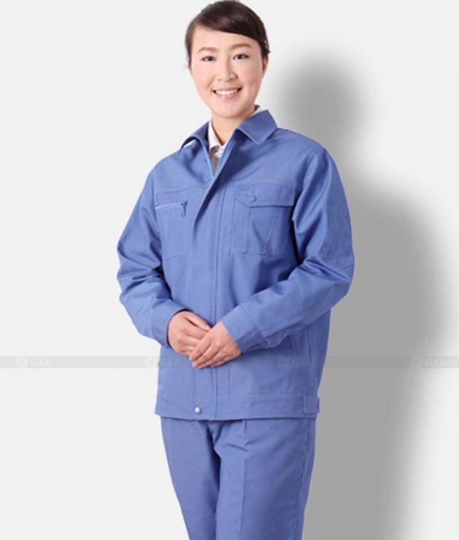 Dong phuc cong nhan GLU CN1310 mẫu áo công nhân