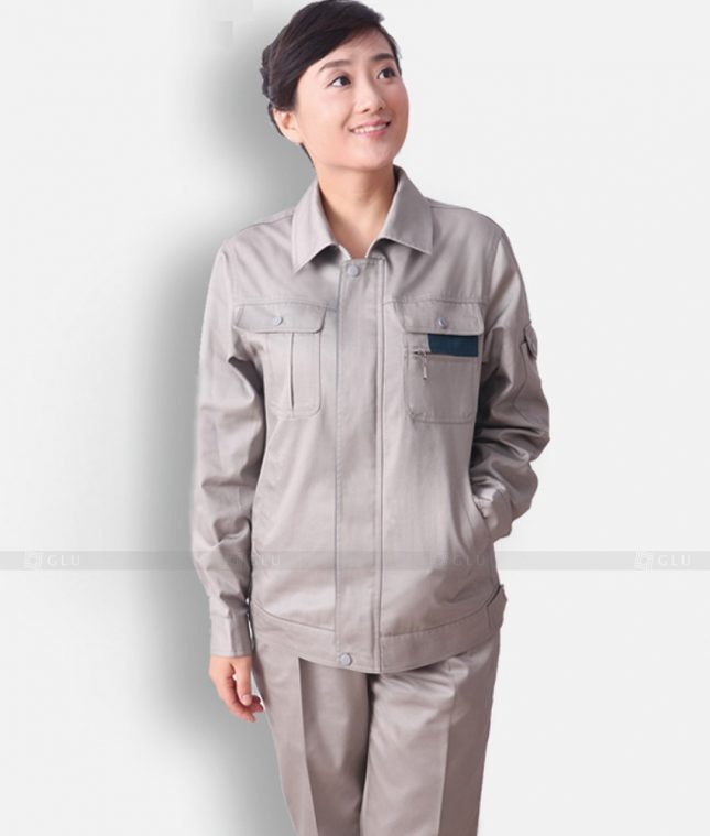 Dong phuc cong nhan GLU CN1311 mẫu áo công nhân