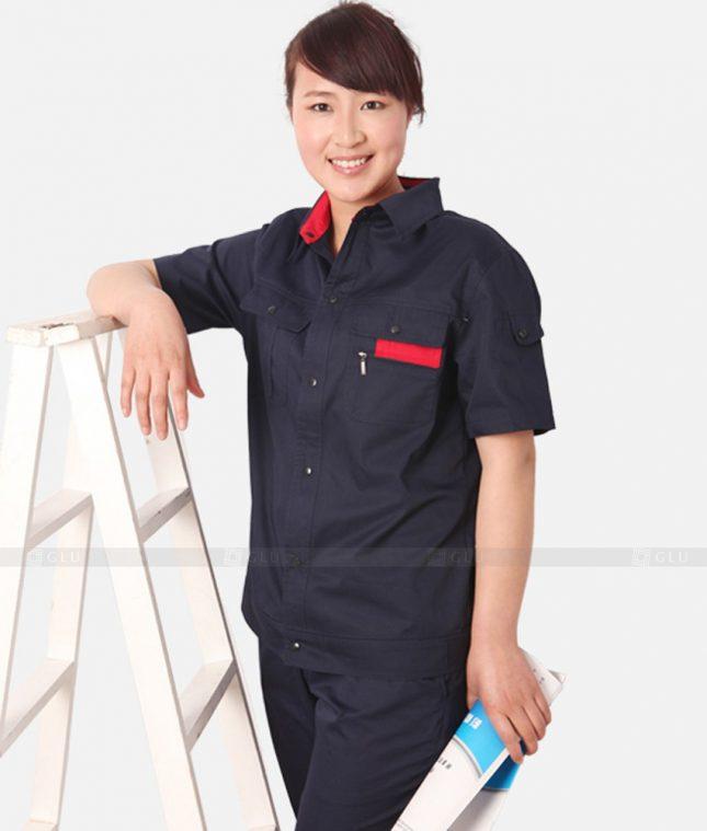 Dong phuc cong nhan GLU CN1312 mẫu áo công nhân