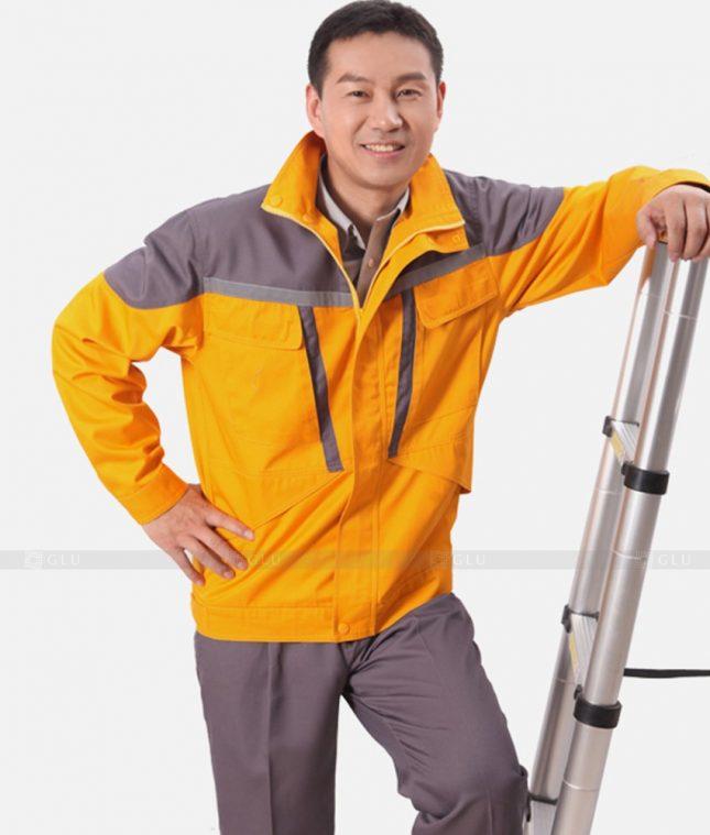 Dong phuc cong nhan GLU CN1313 mẫu áo công nhân