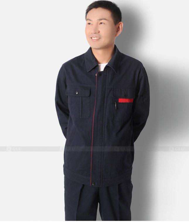 Dong phuc cong nhan GLU CN1315 mẫu áo công nhân