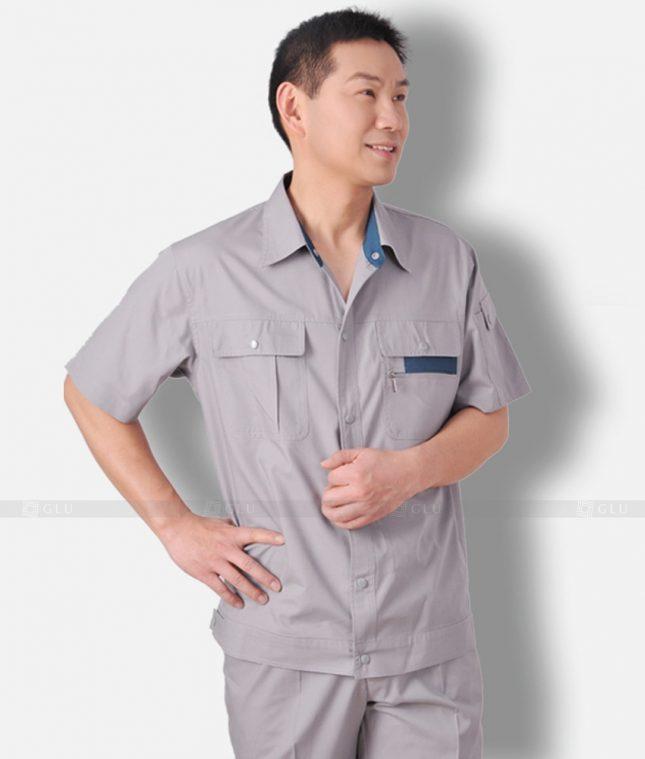 Dong phuc cong nhan GLU CN1317 mẫu áo công nhân
