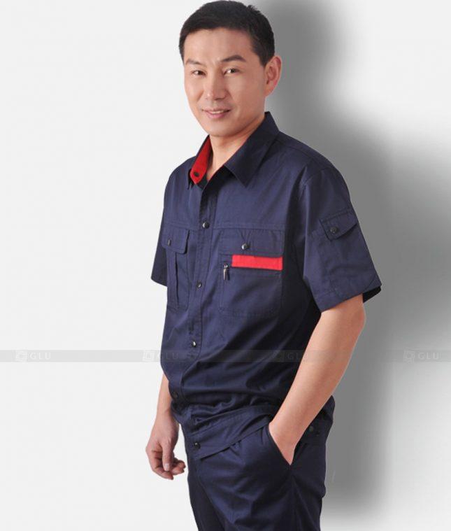 Dong phuc cong nhan GLU CN1318 mẫu áo công nhân