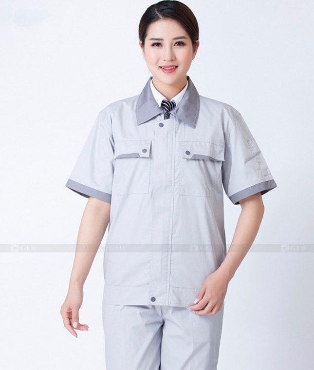 Dong phuc cong nhan GLU CN1322 mẫu áo công nhân