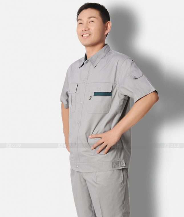 Dong phuc cong nhan GLU CN1325 mẫu áo công nhân