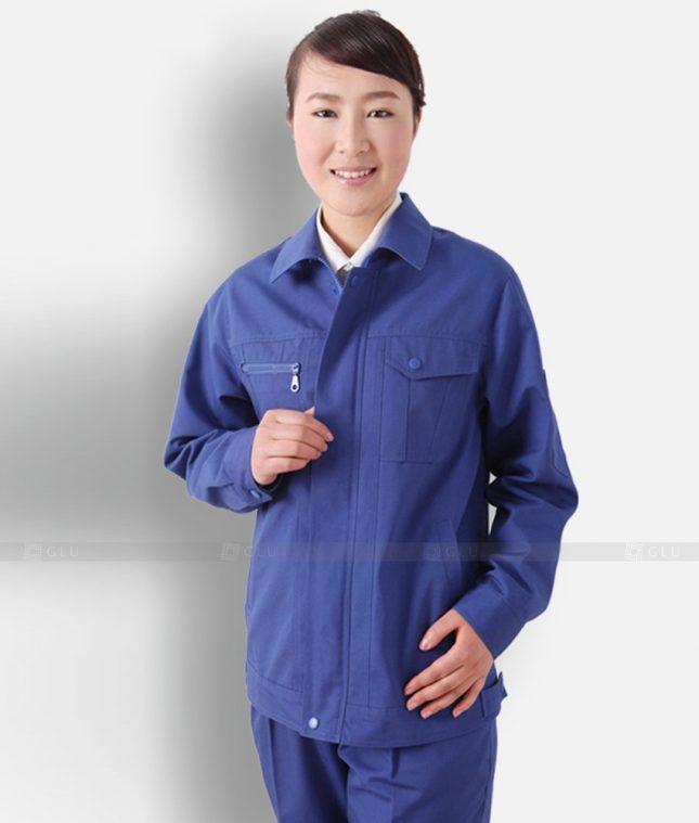 Dong phuc cong nhan GLU CN1326 mẫu áo công nhân