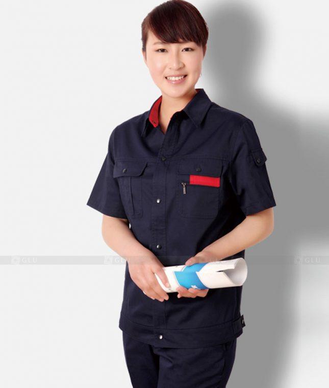 Dong phuc cong nhan GLU CN1329 mẫu áo công nhân
