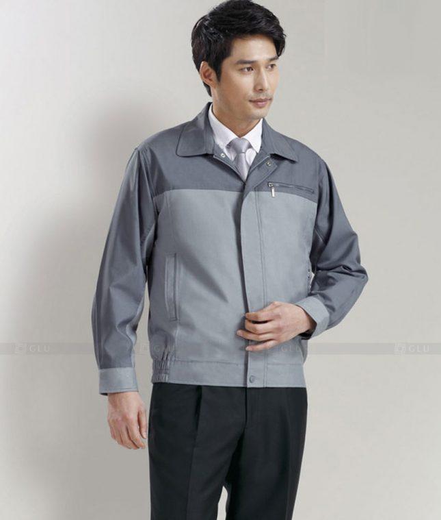 Dong phuc cong nhan GLU CN1330 mẫu áo công nhân