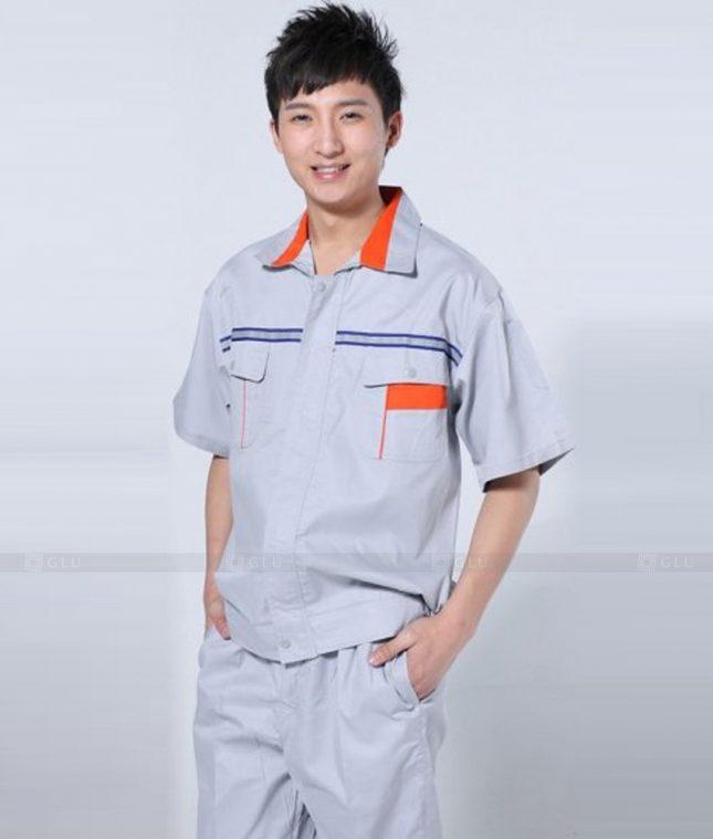 Dong phuc cong nhan GLU CN1331 mẫu áo công nhân
