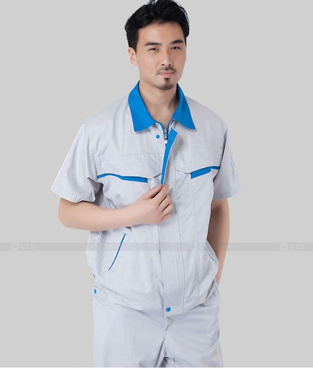 Dong phuc cong nhan GLU CN1332 mẫu áo công nhân