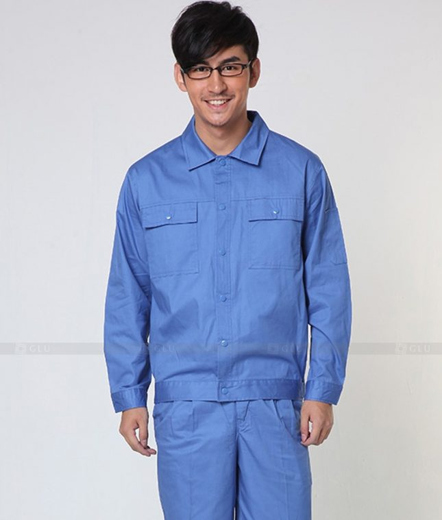 Dong phuc cong nhan GLU CN1334 mẫu áo công nhân