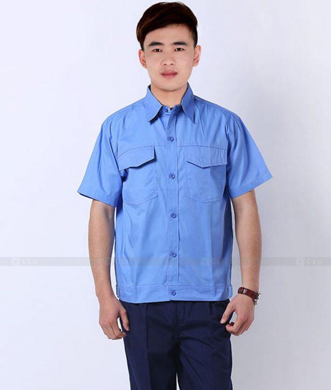 Dong phuc cong nhan GLU CN1335 mẫu áo công nhân