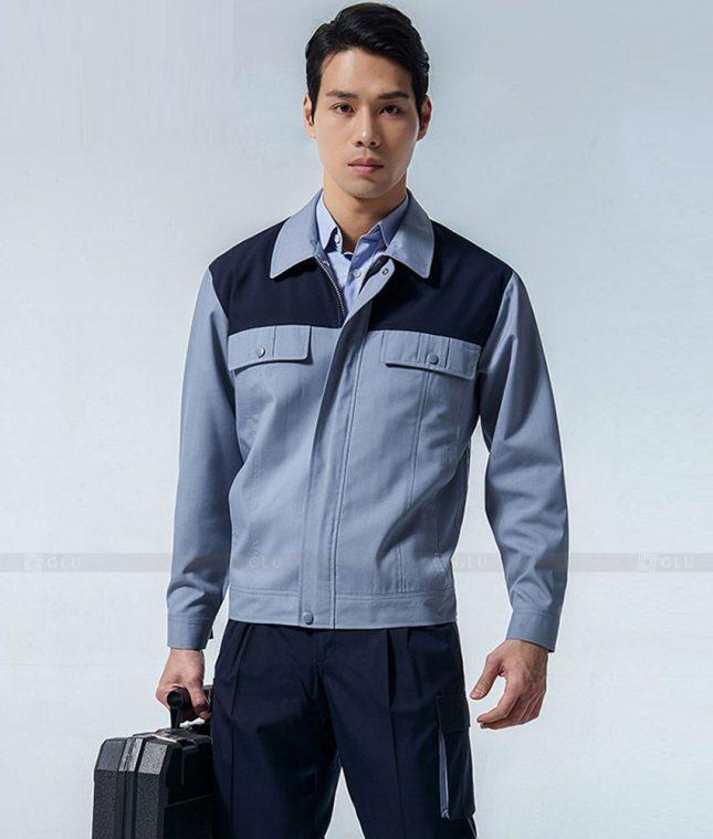 Dong phuc cong nhan GLU CN1338 mẫu áo công nhân