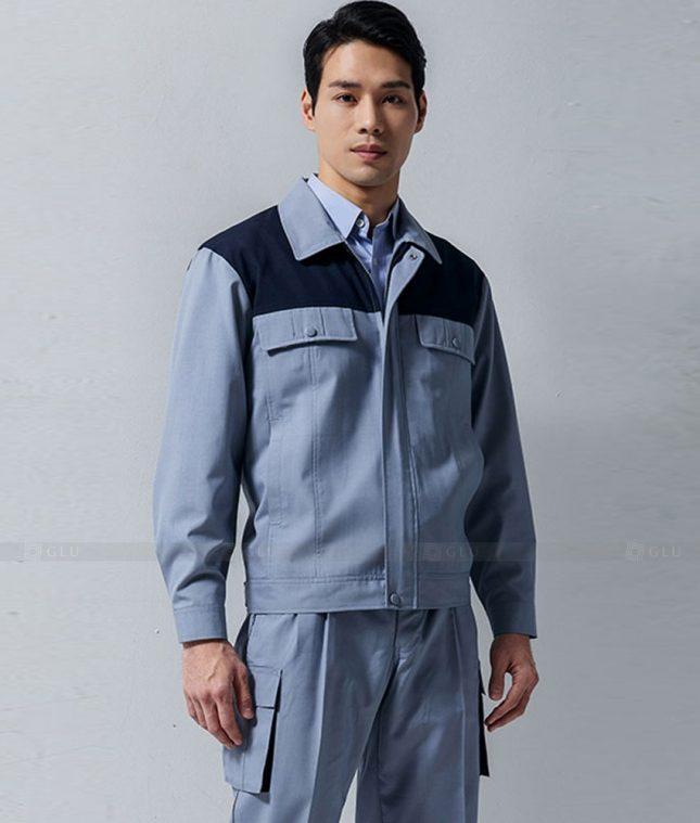 Dong phuc cong nhan GLU CN1339 mẫu áo công nhân