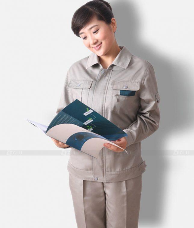 Dong phuc cong nhan GLU CN1340 mẫu áo công nhân
