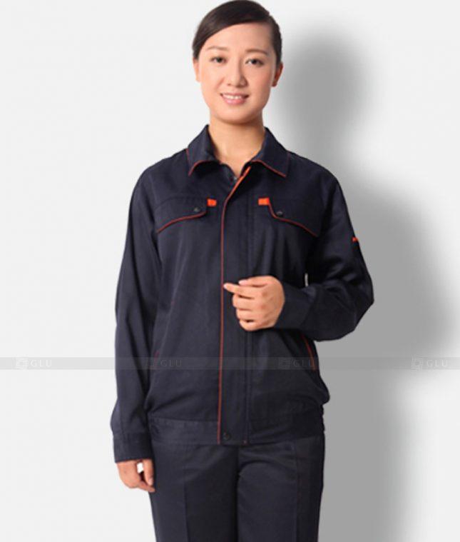 Dong phuc cong nhan GLU CN1342 mẫu áo công nhân