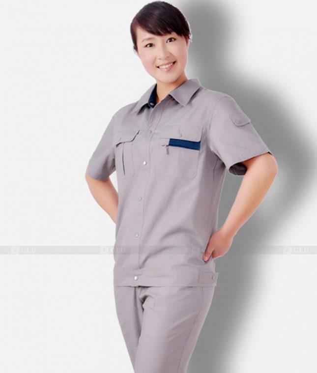 Dong phuc cong nhan GLU CN1343 mẫu áo công nhân