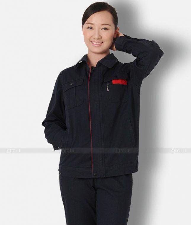 Dong phuc cong nhan GLU CN1345 mẫu áo công nhân
