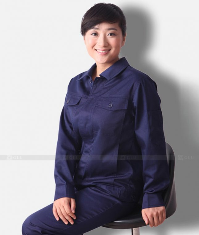 Dong phuc cong nhan GLU CN1346 mẫu áo công nhân