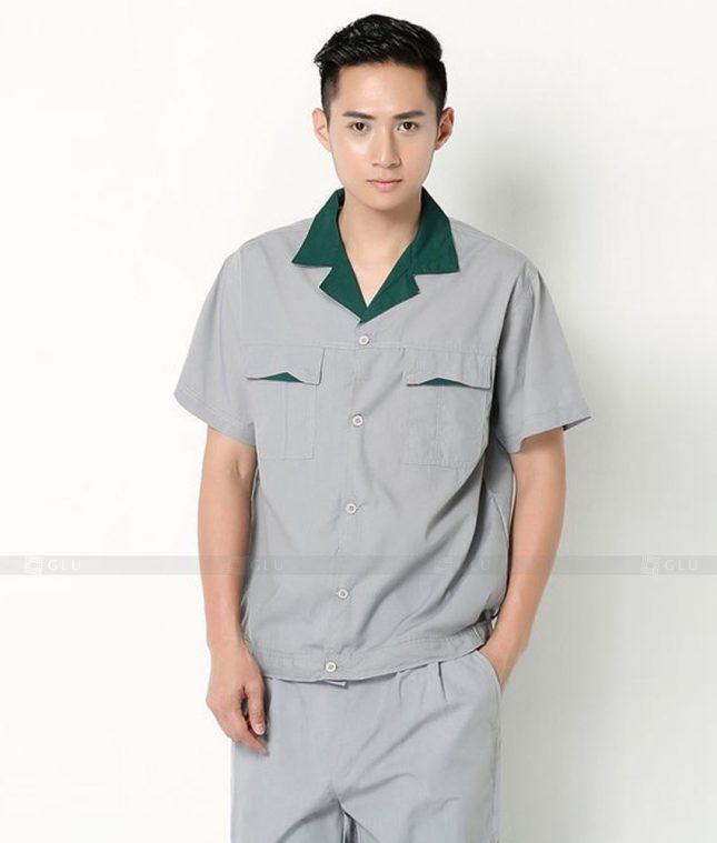 Dong phuc cong nhan GLU CN1347 mẫu áo công nhân