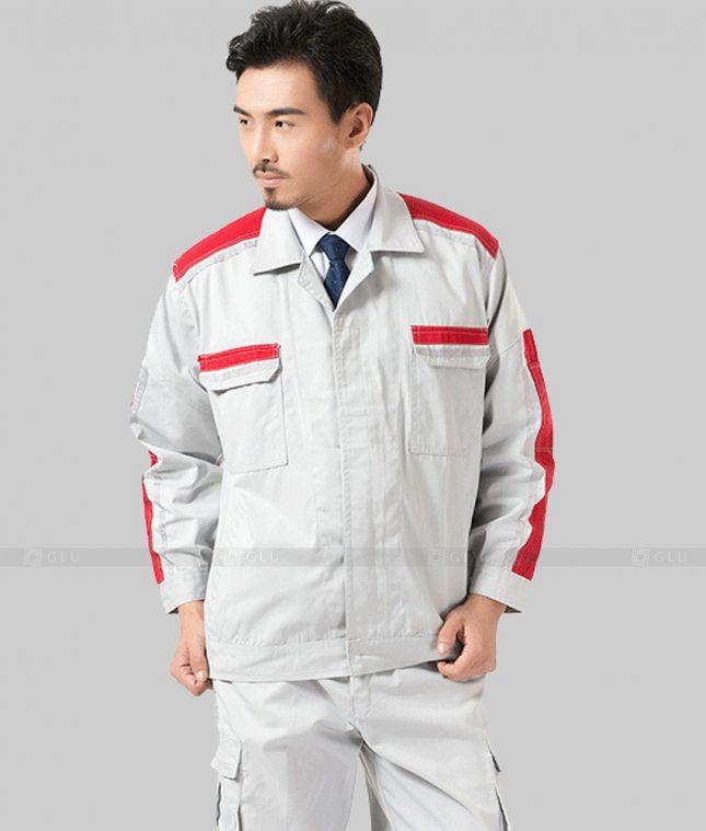 Dong phuc cong nhan GLU CN1348 mẫu áo công nhân