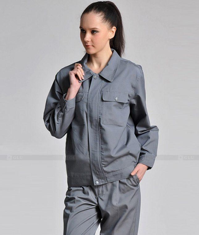 Dong phuc cong nhan GLU CN1351 mẫu áo công nhân