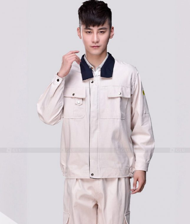 Dong phuc cong nhan GLU CN1364 mẫu áo công nhân