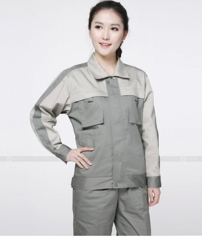 Dong phuc cong nhan GLU CN1365 mẫu áo công nhân