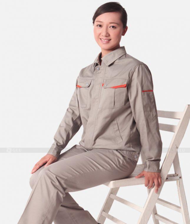Dong phuc cong nhan GLU CN1370 mẫu áo công nhân
