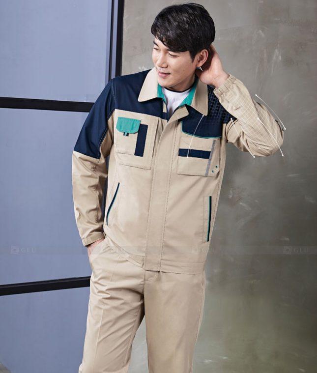 Dong phuc cong nhan GLU CN1372 mẫu áo công nhân