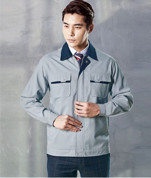 Dong phuc cong nhan GLU CN1375 mẫu áo công nhân