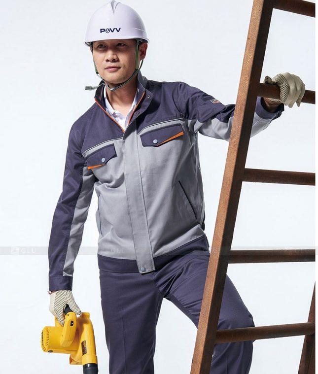 Dong phuc cong nhan GLU CN1376 mẫu áo công nhân