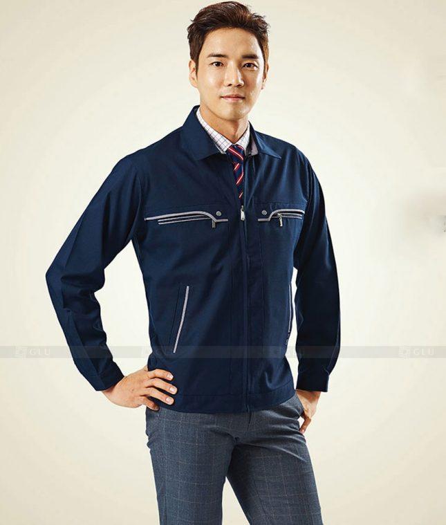 Dong phuc cong nhan GLU CN1377 mẫu áo công nhân