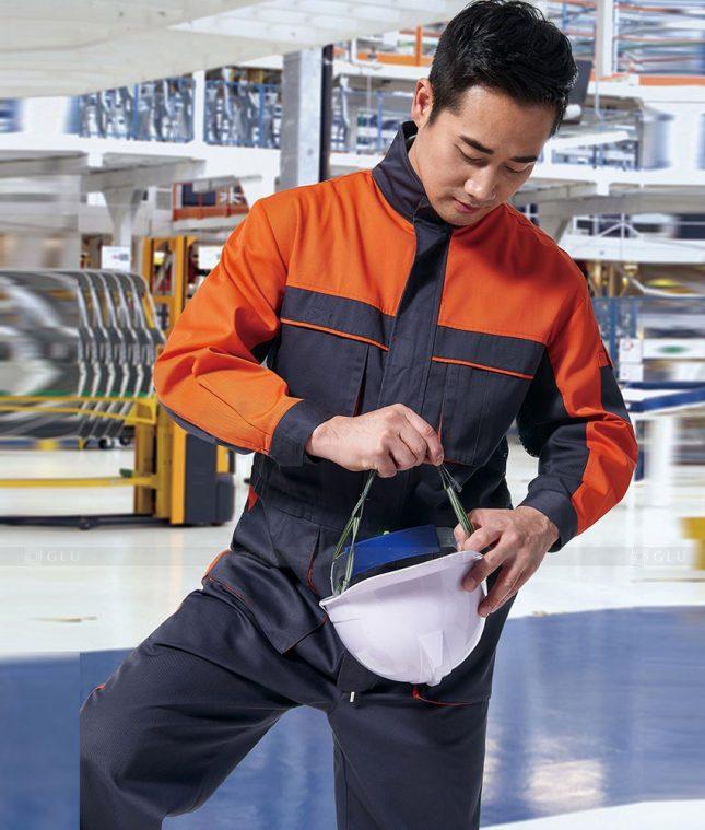 Dong phuc cong nhan GLU CN1378 mẫu áo công nhân