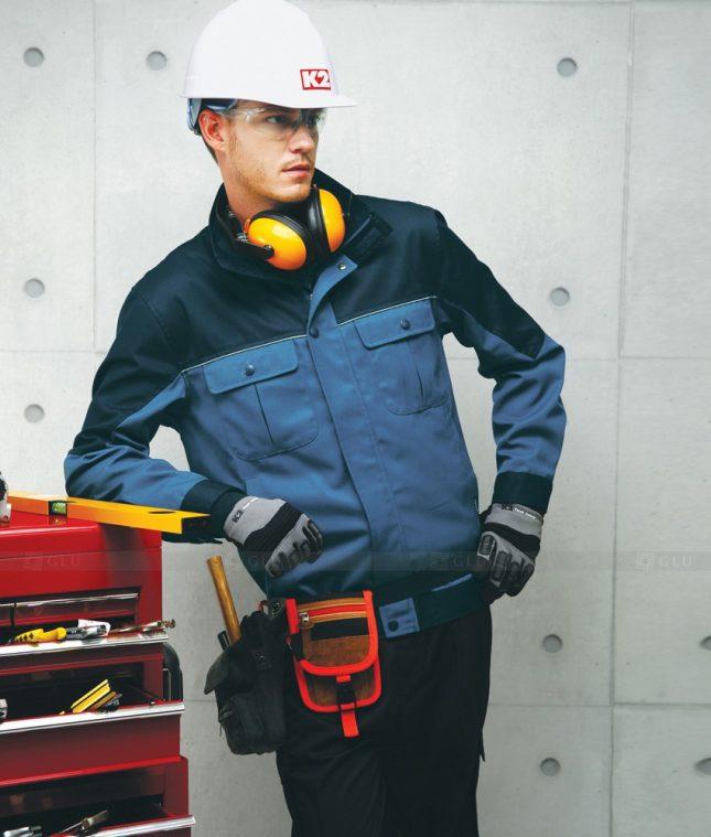 Dong phuc cong nhan GLU CN1379 mẫu áo công nhân