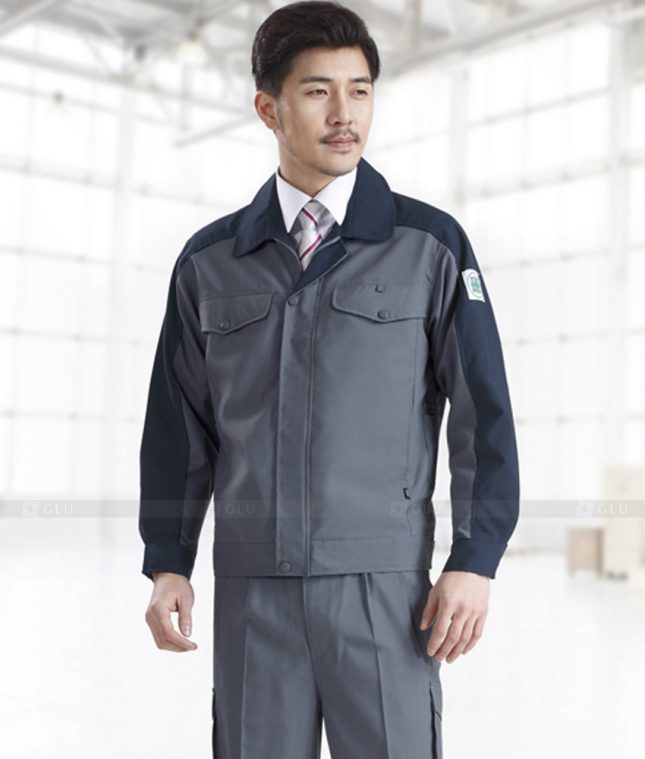 Dong phuc cong nhan GLU CN1380 mẫu áo công nhân