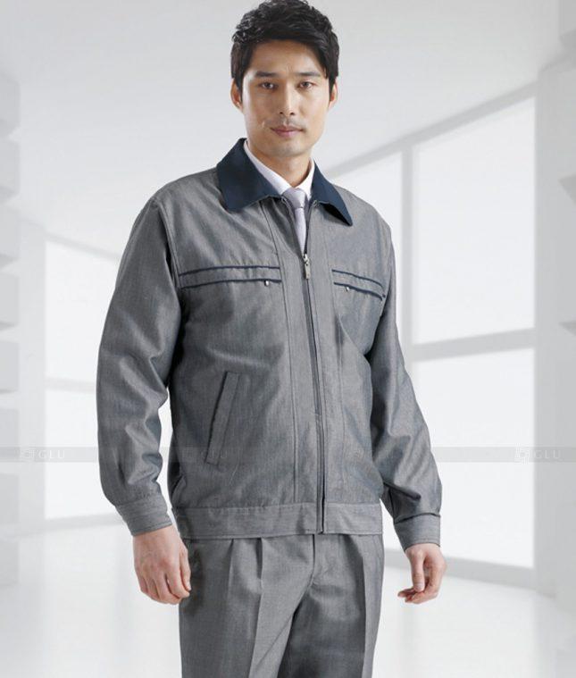 Dong phuc cong nhan GLU CN1381 mẫu áo công nhân