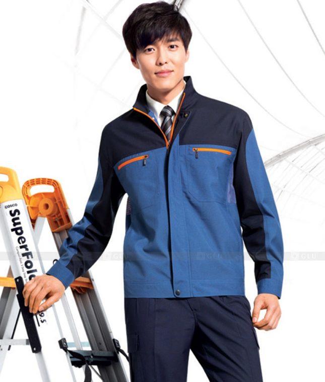 Dong phuc cong nhan GLU CN1383 mẫu áo công nhân