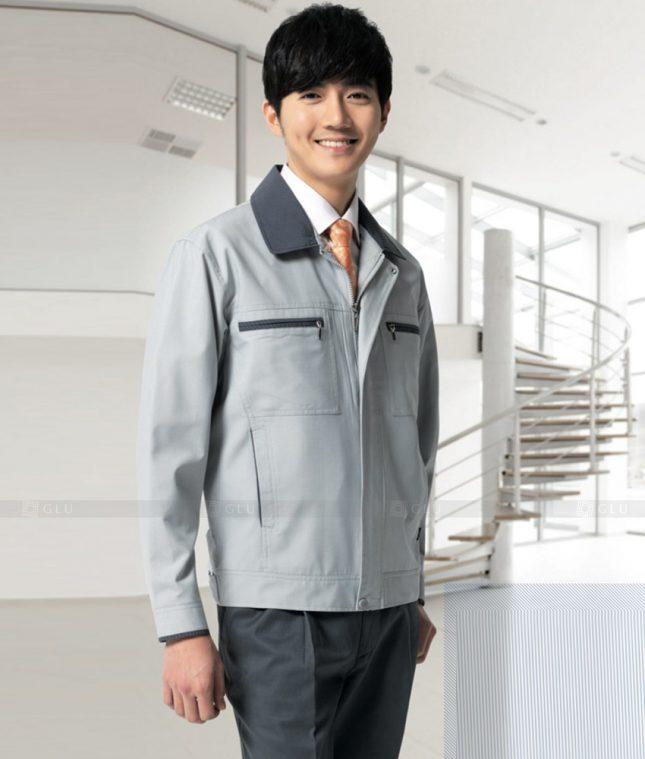 Dong phuc cong nhan GLU CN1385 mẫu áo công nhân