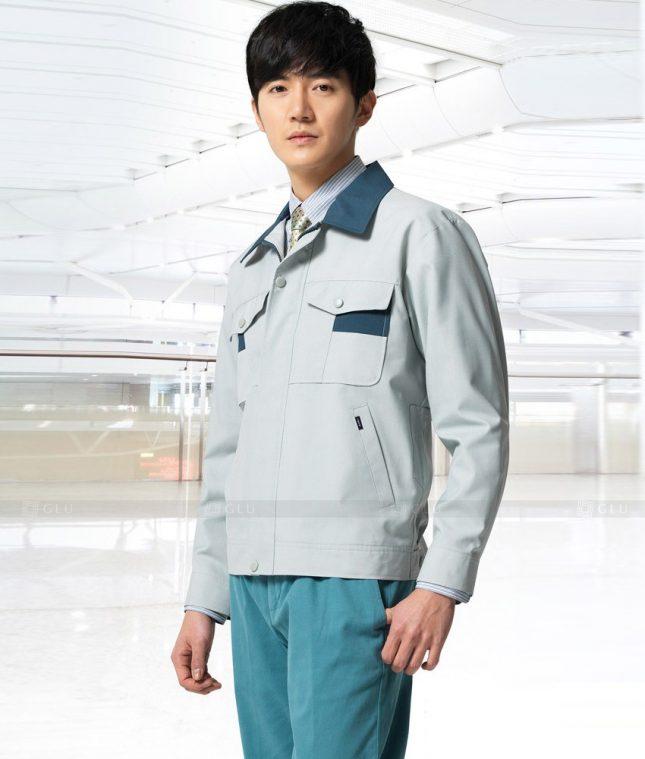 Dong phuc cong nhan GLU CN1386 mẫu áo công nhân