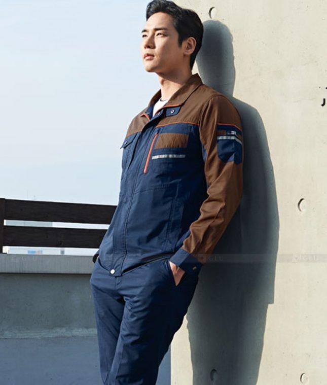 Dong phuc cong nhan GLU CN1392 mẫu áo công nhân