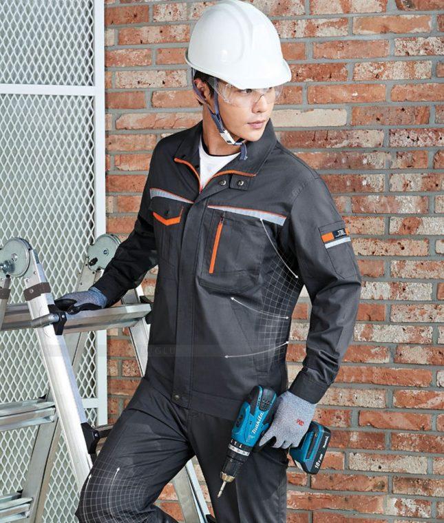 Dong phuc cong nhan GLU CN1393 mẫu áo công nhân