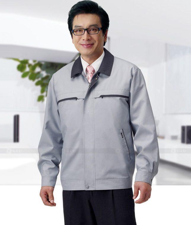 Dong phuc cong nhan GLU CN1395 mẫu áo công nhân