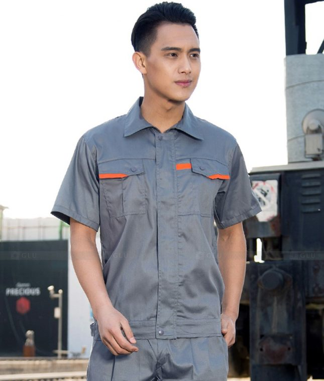 Dong phuc cong nhan GLU CN1396 mẫu áo công nhân