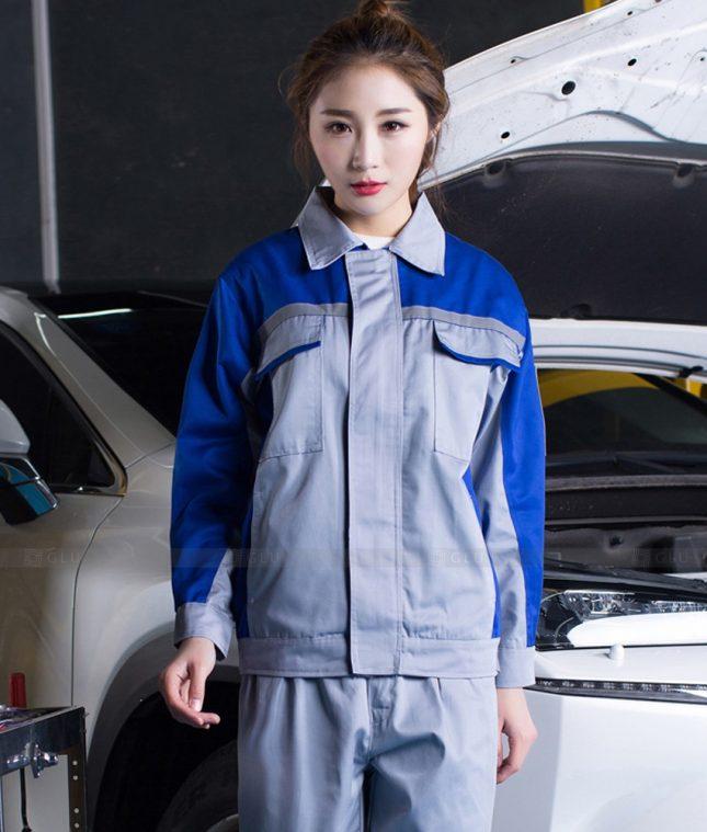 Dong phuc cong nhan GLU CN1397 mẫu áo công nhân