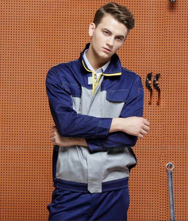 Dong phuc cong nhan GLU CN1399 mẫu áo công nhân