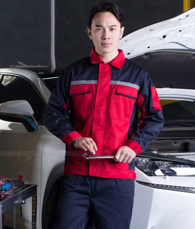Dong phuc cong nhan GLU CN1400 mẫu áo công nhân
