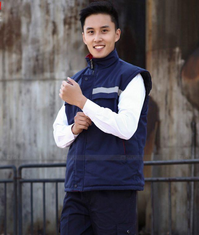 Dong phuc cong nhan GLU CN1401 mẫu áo công nhân